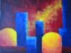 LARAMAS  autrement IV acrylique sur toile 50x60 cm 2014