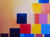 Carole En equilibre acrylique sur toile 80 X 80 cm 2014