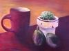 Carole, Pause thé de fin d'été, 50-40,acrylique