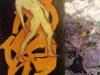 caludine 2016 homme triomphant 80x40 acrylique et partie encres marouflées