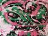Eloha l\'énergie de l\'amour 50 x 70 cm acrylique sur toile 2017