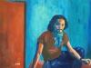 Jagab djoni 50 x70 cm  acrylique sur toile  juin 2014