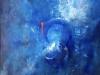 Ma Uyi dans l'infini des bleus acrylique sur toile 73 x 92 cm