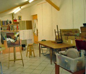 Intérieur de l'atelier de BENA, artiste peintre à JASSANS RIOTTIER, Group'Artuel