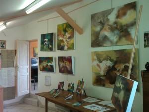 toiles de Bena dans son atelier 2013