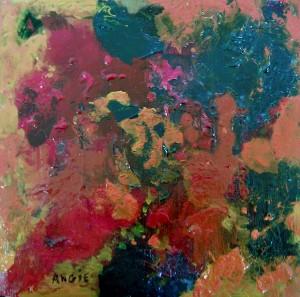 Angelica olmo dite ANGIE, Sans titre, acrylique,30 x 30 cm