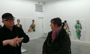 116ART, Jean-Marc Revy et Agnes Laforet exposition Elzévir