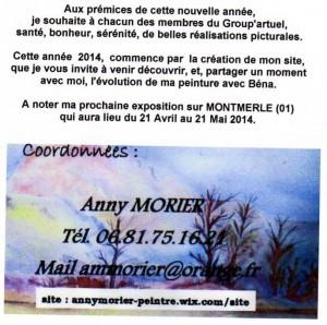 présentation du site d'Anhy , artueliste
