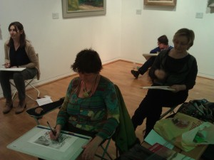 les artuelistes en seance croquis musee Dini