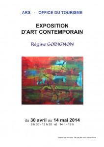 expo Régine GODIGNON ARS, Office du tourisme mai 2014