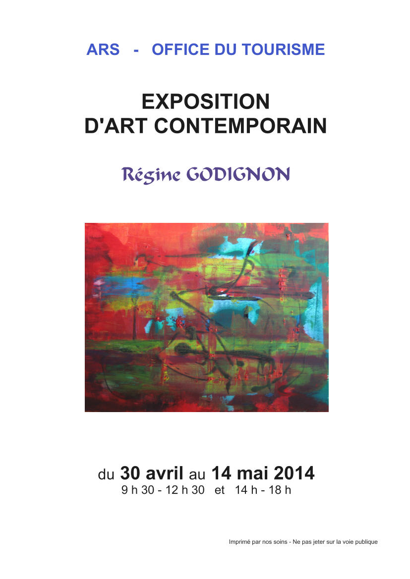 Exposition des toiles de r gine godignon l office du tourisme d ars group 39 artuel - Office tourisme ars en re ...