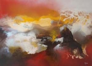 BENA,sans titre 2, 50 x 70 cm, technique mixte