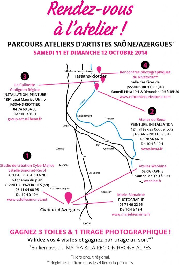 Parcours Saône/Azergues Atelier d'artistes