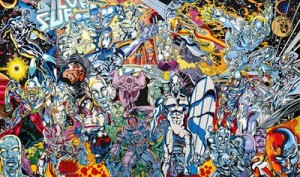 Erró, Silver Surfer Saga, 1999.  Série Saga of American Comics. Collection de l'artiste.  © Adagp Paris, 2014