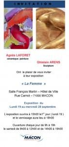 expo Agnes LAFORET et Ghislain ARENS