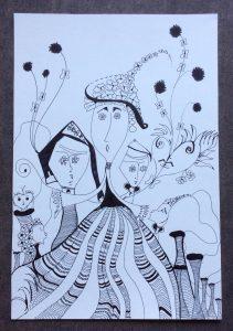 melancolie dansante stylo pilot su papier canson 33 x 23 cm