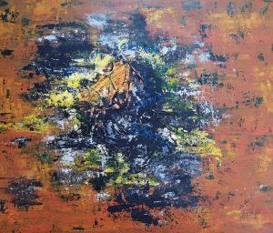 bess on s'en sortira sans sortir acrylique sur toile 60 x 50 cm