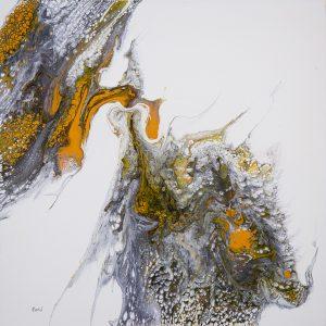 forky paysage acrylique liquide sur toile 60 x 60 c