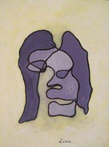 liou gueule cassée 1 acrylique sur carton 24 x 33 cm
