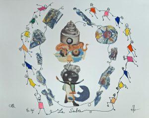 Le Saba. Collage et dessin . 2021