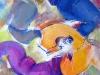 alaforet-ballon-bleu-80-x-80-cm-technique-mixte-2014