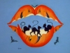 liou bouche 61 x 46 cm acrylique sur toile