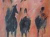 erossi les guerriers du desert 50 x 61 cm acrylique