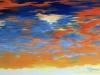 Ciel acrylique sur toile 80 x 40 cm