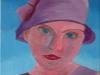fchazot petite fille au chapot acrylique 41 x 33 cm