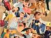 33 Regards - 54 x 65 - collage au liant jagab