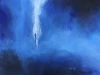 Ma Uyi Perception azulée acrylique sur toile 40 x 80 cm