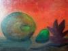 Rosaria ma première esquisse L'automne 46x55 cm acrylique sur toile